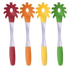 Silicone Handle Pasta Server with Silicone Handle