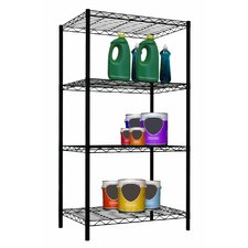 "Wire 46.5"" H Four Shelf Shelving Unit"