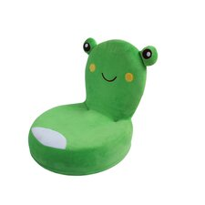 Critter Cushion Flat Frog Kids Chair