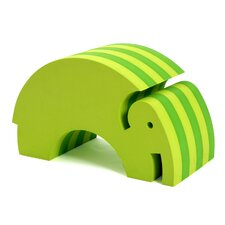 Tumbling Elephant in Lime Green