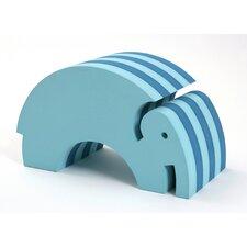 Tumbling Elephant in Turquoise