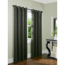 Damask Panel in Charcoal