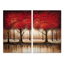 Autumn Trees Wall Art Set