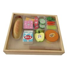 17 Piece Casual Wooden Play Food Set