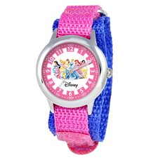 Kid's Princess Time Teacher Velcro Watch in Pink