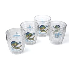 Guy Harvey Saltwater Dolphin 12 oz. Tumbler (Set of 4)