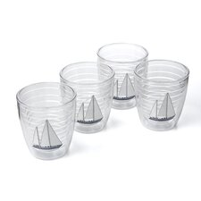 Nautical Sailboat Hc 12 oz. Insulated Tumbler (Set of 4)