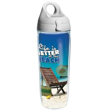 Life is Better Wrap At The Beach Water Bottle