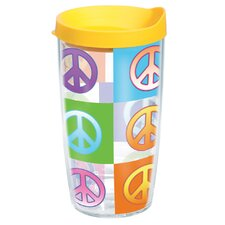 Peace Sign 16 oz. Wrap Insulated Tumbler (Set of 2)