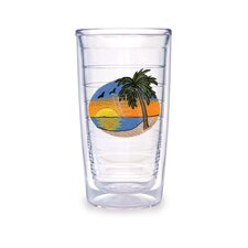 Palm Tree Scene 16 oz. Tumbler (Set of 4)