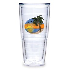 Palm Tree Scene 24 oz. Tumbler (Set of 2)