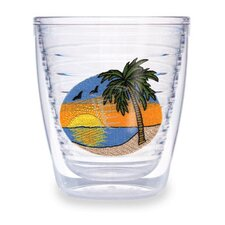Palm Tree Scene 12 oz. Tumbler (Set of 4)