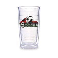Sport and Activities Sports Soccer 16 oz. Insulated Tumbler (Set of 4)