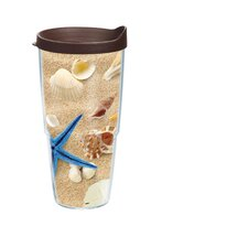 24 Oz. Wrap Sea Shell Tumbler (Set of 2)