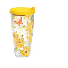 <strong>Tervis Tumbler</strong> 24 Oz. Wrap Yellow Flower Butterfly Tumbler (Set of 2)