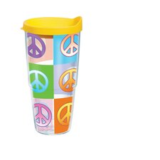 24 Oz. Wrap Peace Signs Tumbler (Set of 2)
