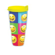 24 Oz. Wrap Smiley Faces Tumbler (Set of 2)