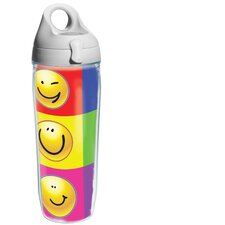 Wrap Smiley Faces Water Bottle