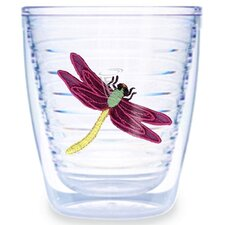 Dragonflies Maroon 12 oz. Tumbler (Set of 4)