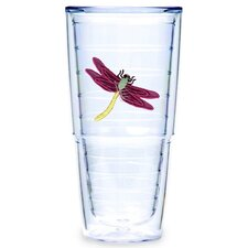<strong>Tervis Tumbler</strong> Dragonflies Maroon 24 oz. Big-T Tumbler (Set of 2)