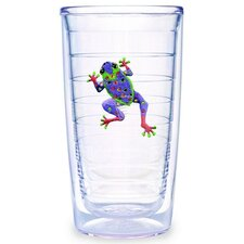 Tropical and Coastal Frog 16 oz. Insulated Tumbler (Set of 4)