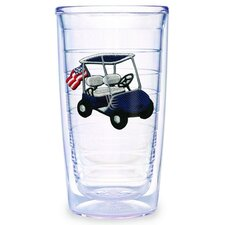 Golf Cart Blue 16 oz. Tumbler (Set of 4)