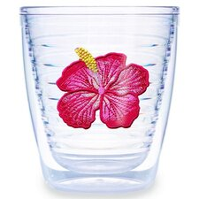 Garden Splendor Hibiscus 12 oz. Insulated Tumbler (Set of 4)