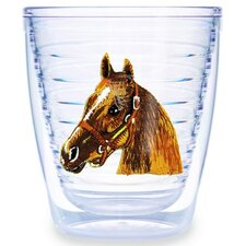 Animals and Wildlife Horsehead 12 oz. Insulated Tumbler (Set of 4)