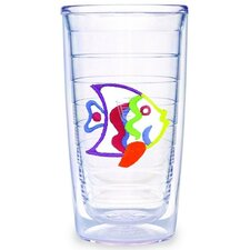 Multi Colored Fish 16 oz. Tumbler (Set of 2)