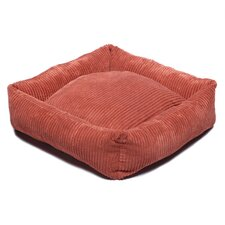 Plush Chenille Square Dog Bed in Sunset