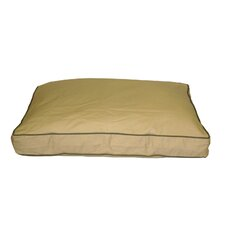 Classic Twill Rectangular Dog Pillow with Sage Cording