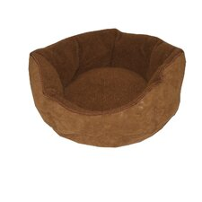 Faux Suede/Berber Tufted Kuddle Kup® Pet Bed in Brown