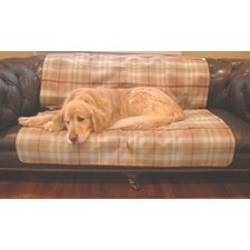 Waterproof Pet Throw in Blue/Brown Plaid