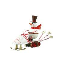 Snowmobile Snowman (Set of 2)