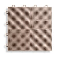 "12"" x 12""  Deck and Patio Flooring Tile in Beige (Set of 30)"