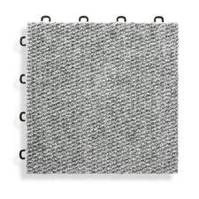 "12"" x 12""  Premium Interlocking Carpet Basement Floor Tile in Gray (Set of 20)"
