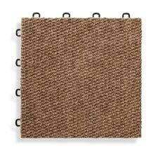 "12"" x 12""  Premium Interlocking Carpet Basement Floor Tile in Brown (Set of 20)"