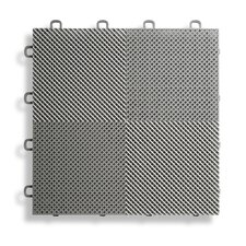 """12"""" x 12""""  Deck and Patio Flooring Tile in Gray (Set of 30)"""
