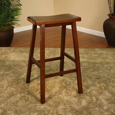 Wood Saddle Bar Stool