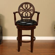 "<strong>American Heritage</strong> Kennedy 30"" Swivel Bar Stool with Cushion"
