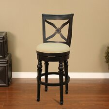 <strong>American Heritage</strong> Livingston Stool in Antique Black with Stone Fabric