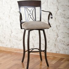 "<strong>American Heritage</strong> Atlantis 30"" Swivel Bar Stool with Cushion"