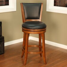 <strong>American Heritage</strong> Peyton Swivel Bar Stool with Cushion