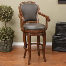 <strong>American Heritage</strong> Santos Swivel Bar Stool with Cushion