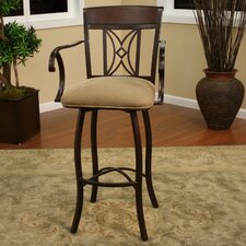 <strong>American Heritage</strong> Atlantis Swivel Bar Stool with Cushion