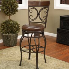 "<strong>American Heritage</strong> Treviso 34"" Swivel Bar Stool with Cushion"