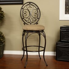 <strong>American Heritage</strong> Opus Swivel Bar Stool with Cushion