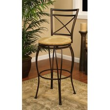 Torino Stool in Coco with Camel Microfiber