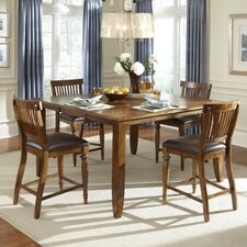 <strong>American Heritage</strong> Delphina 5 Piece Counter Height Dining Set