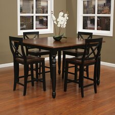 <strong>American Heritage</strong> Berkshire 5 Piece Counter Height Dining Set